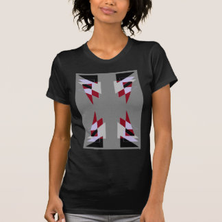 TRE 4 Triangles Abstract Grey Blue Red White T-shirts