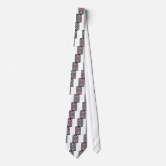 TRE 4 Triangles Abstract Grey Blue Red White Tie