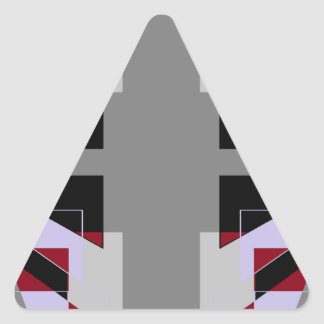 TRE 4 Triangles Abstract Grey Blue Red White Triangle Sticker