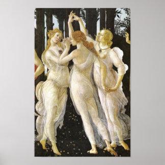 Tre Grazie (Three Graces), Botticelli Fine Art Poster