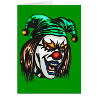 Treacherous Evil Clown Greeting Card