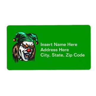 Treacherous Evil Clown Shipping Label