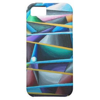 Treacherous Moons colorful cubism iPhone 5 Case