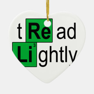 tread lightly T-Shirts.png Ceramic Heart Decoration
