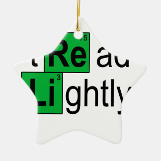 tread lightly T-Shirts.png Ceramic Star Decoration
