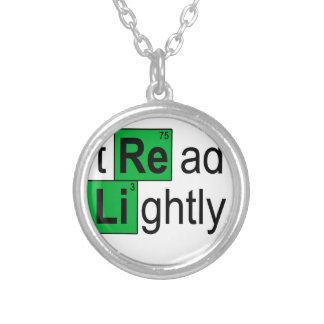 tread lightly T-Shirts.png Round Pendant Necklace