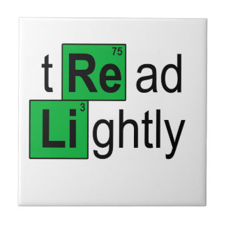 tread lightly T-Shirts.png Small Square Tile