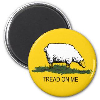 Tread on me sheep fridge magnets