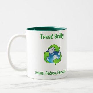 Tread Softly Reuse Reduce Recycle Mug Cup
