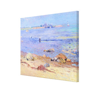Treading Clams, Wickford Canvas Print