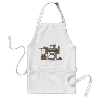 Treadle Sewing Machine & Kittens Adult Apron