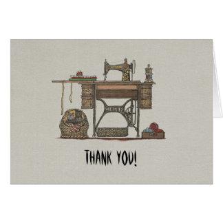 Treadle Sewing Machine & Kittens Card