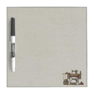 Treadle Sewing Machine & Kittens Dry Erase Board