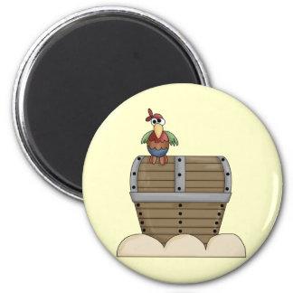 Treasure Chest 6 Cm Round Magnet