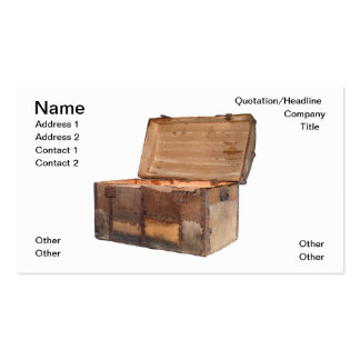 Treasure chest Double-Sided standard business cards (Pack of 100)