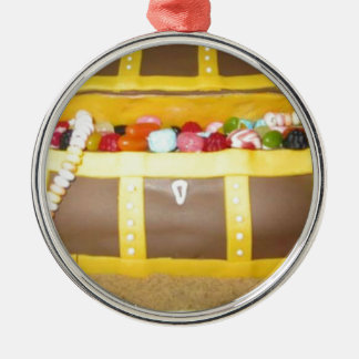 Treasure chest cake christmas ornament