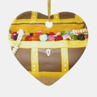 Treasure chest cake christmas ornament