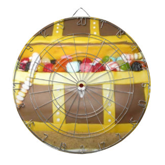 Treasure chest cake dart boards
