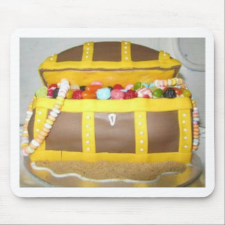 Treasure chest cake mouse mat