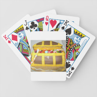 Treasure chest cake poker deck