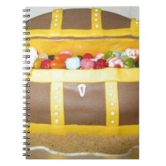 Treasure chest cake spiral notebook