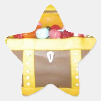 Treasure chest cake star sticker