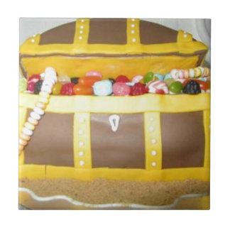 Treasure chest cake tile
