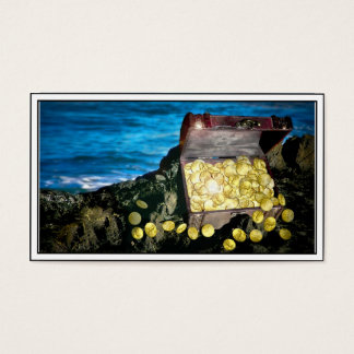 Treasure Chest of Gold on the Rocks