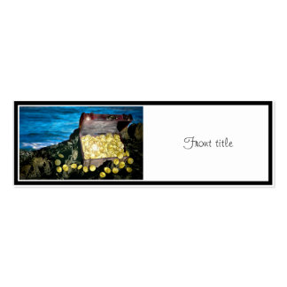 Treasure Chest of Gold on the Rocks Double-Sided Mini Business Cards (Pack Of 20)