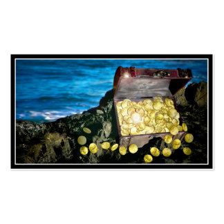 Treasure Chest of Gold on the Rocks Pack Of Standard Business Cards