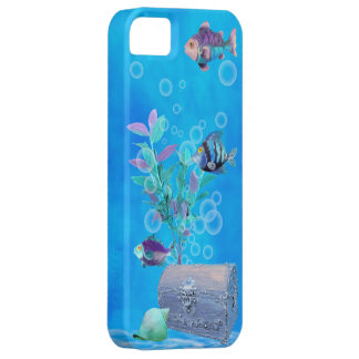 Treasure Chest & Pretty Fish in the Ocean Barely There iPhone 5 Case