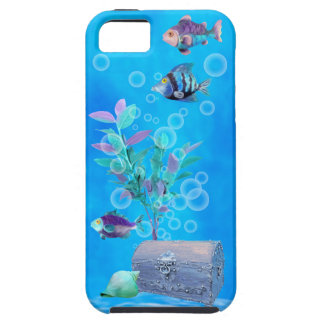 Treasure Chest & Pretty Fish in the Ocean iPhone 5 Case