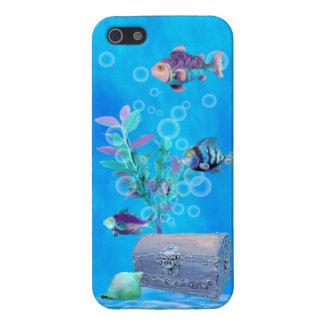 Treasure Chest & Pretty Fish in the Ocean iPhone 5 Cover