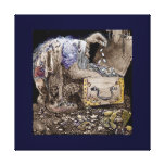 Treasure Chest Troll Stretched Canvas Print