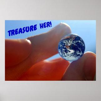 """Treasure her!"" Earth Poster"