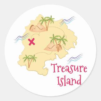 Treasure Island Classic Round Sticker