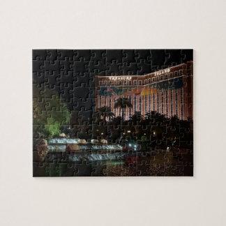 Treasure Island Hotel & Waterfall Jigsaw Puzzle