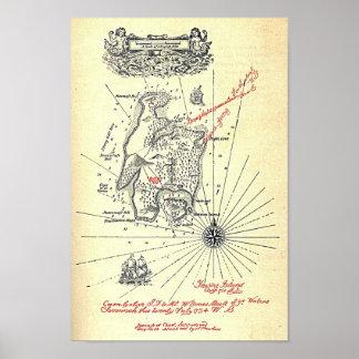 Treasure Island Map Posters