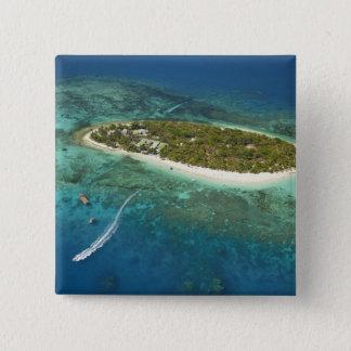 Treasure Island Resort and boat, Fiji 15 Cm Square Badge