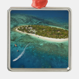 Treasure Island Resort and boat, Fiji Christmas Ornament