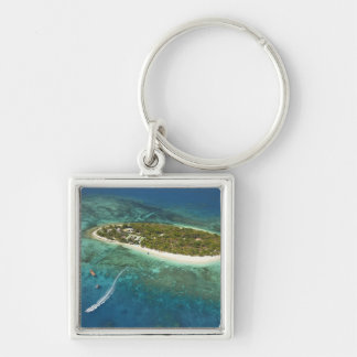Treasure Island Resort and boat, Fiji Key Ring