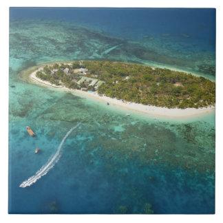 Treasure Island Resort and boat, Fiji Tile
