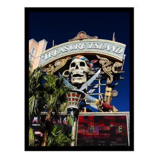 Treasure Island Sign Postcard