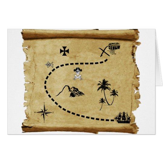 treasure map card