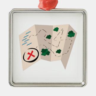 Treasure Map Ornaments