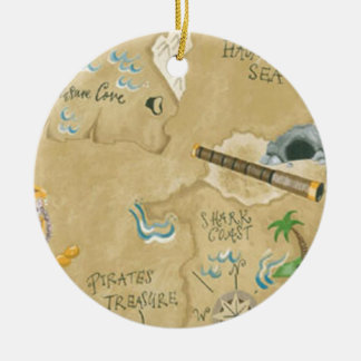 Treasure Map Ornament