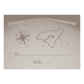 Treasure Map Place Card Beige Business Cards