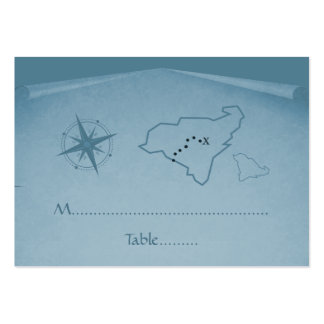 Treasure Map Place Card, Blue Pack Of Chubby Business Cards