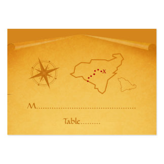 Treasure Map Place Card Large Business Cards (Pack Of 100)