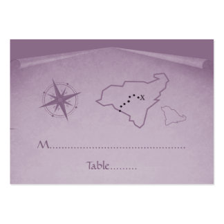 Treasure Map Place Card, Purple Pack Of Chubby Business Cards